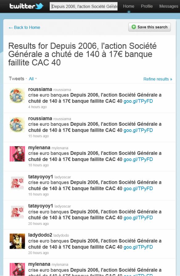 Depuis 2006, l'action Société Générale a chuté de 140 à 17€ banque faillite CAC 40